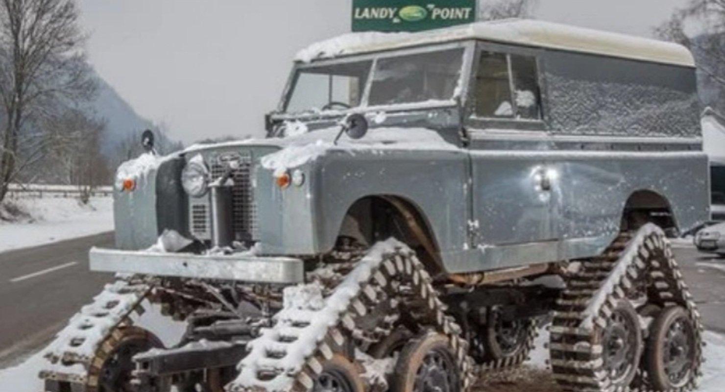 В Германии нашли гусеничный вездеход на базе Land Rover Автомобили