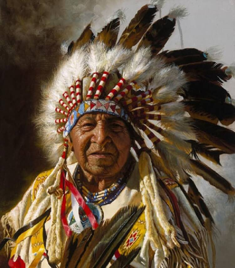 найдете фото индейских вождей добавим сковородку помидоры