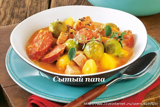 ДЕНЬ ПЕРВОГО БЛЮДА. Суп с колбасками и овощами