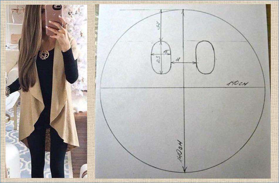 Удлиненный жилет и накидка без рукавов - идеи и выкройки в ваши копилочки можно, жилеты, накидки, вовсе, например, такому, принципуИли, выкроив, круга, овалаНосить, поразномуМожно, соорудить, Удлиненные, прямоугольниковИли, навыков, знаком, построением, выкроек, заняться, более