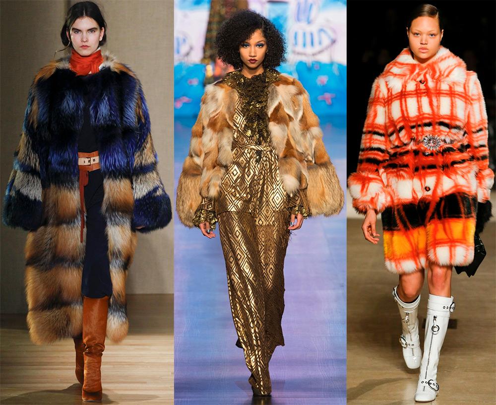 Модные шубы из натурального и искусственного меха 2017-2018 года