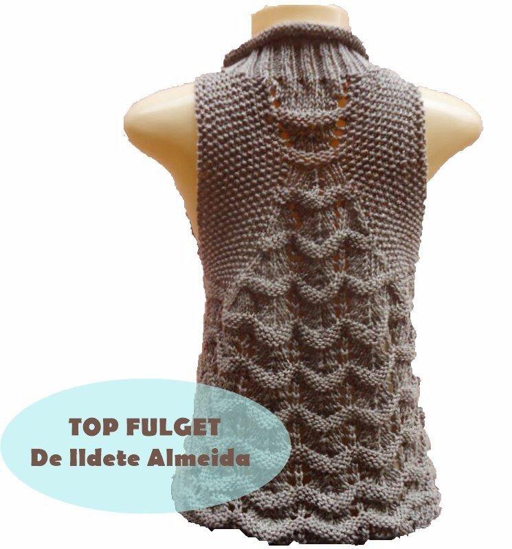 Интересный узор для вязания безрукавки 1