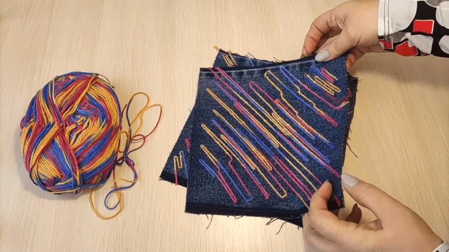 Уникальный трюк с пряжей для вязания, способный задать стиль