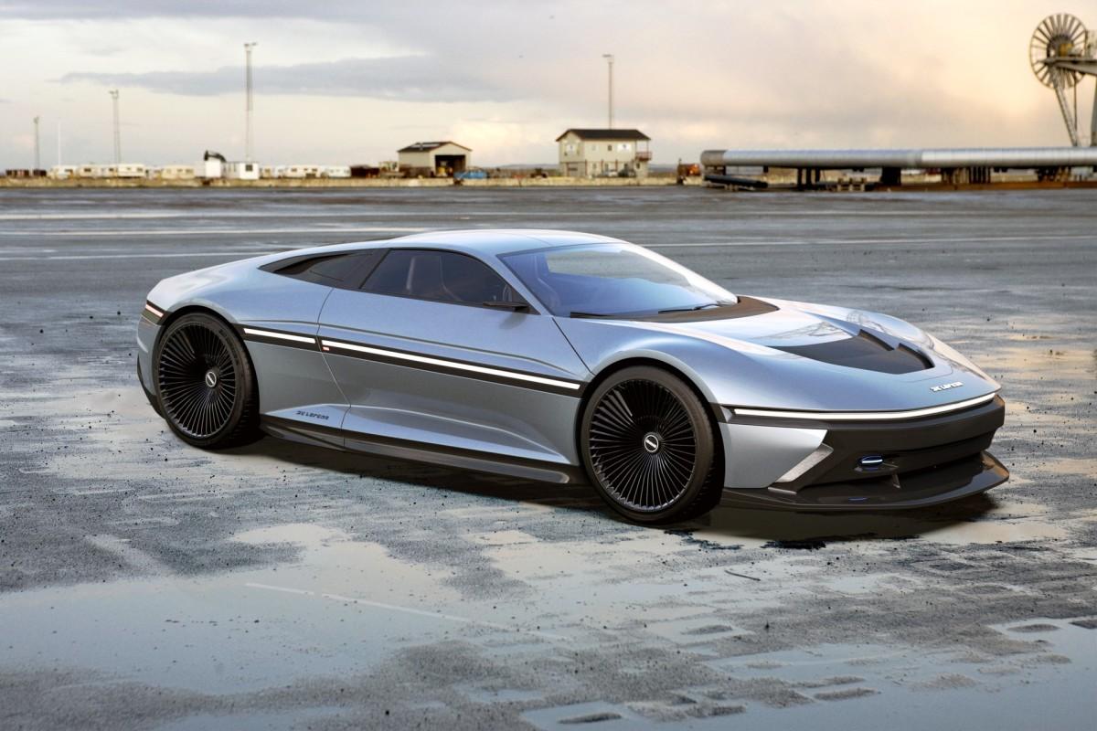 Дизайнер нарисовал старую машину времени на новый лад авто