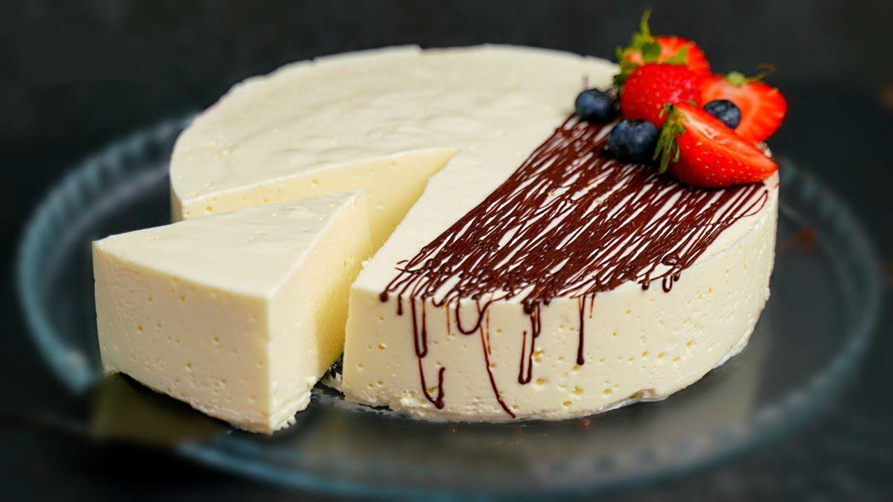 Нежный десерт без сахара, муки и масла. Всего 100 калорий на 100 г!