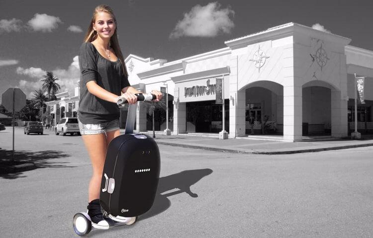 Olive: гибрид чемодана и гироскутера