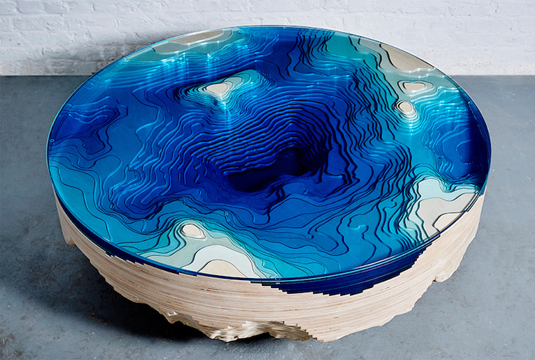 nature-inspired furniture table Abyss Horizon Table Duffy London