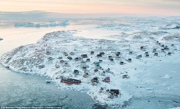 4. Исорток, Гренландия. деревни, мир, невидимки, природа, фото
