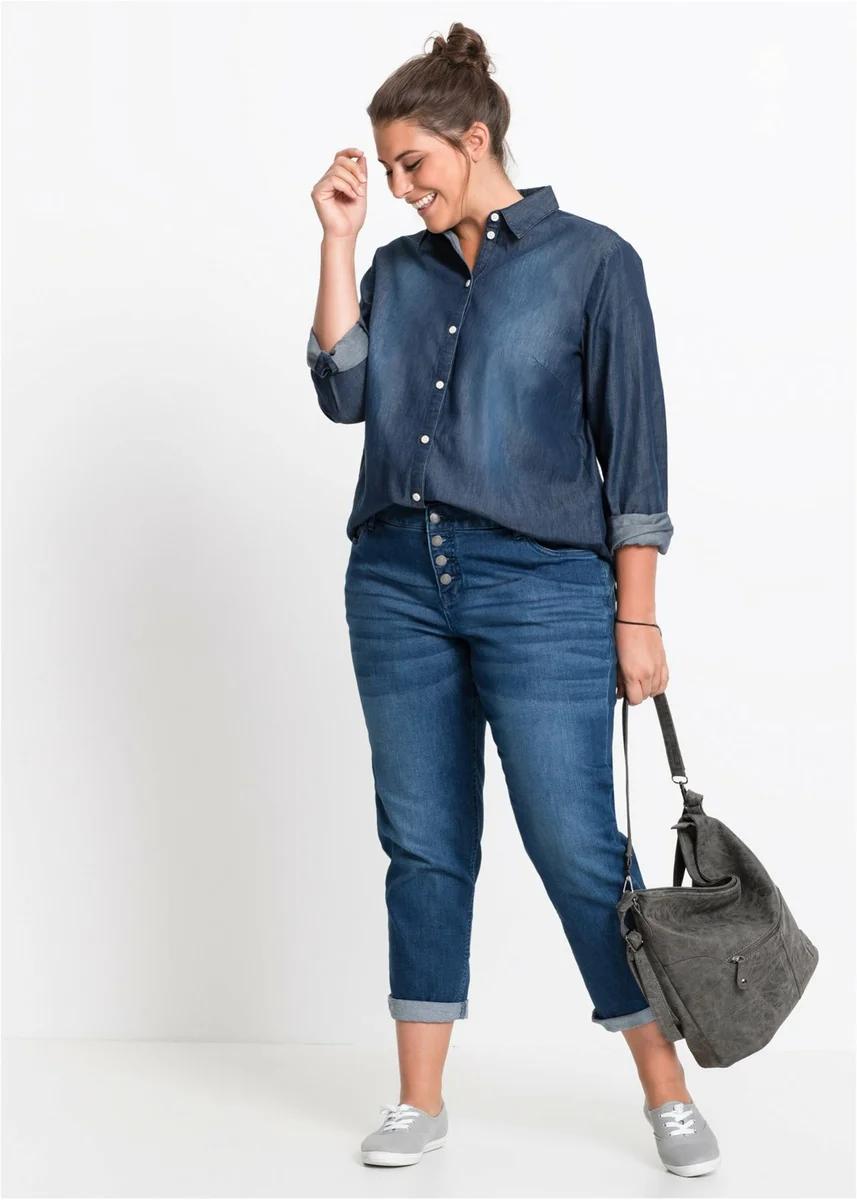 14 женственных образов в джинсах