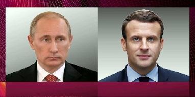 Телефонный разговор с Президентом Франции Эммануэлем Макроном
