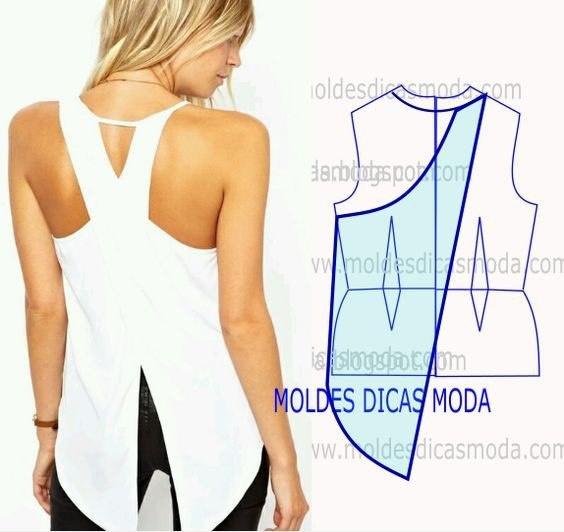 Блузка с необычной спинкой