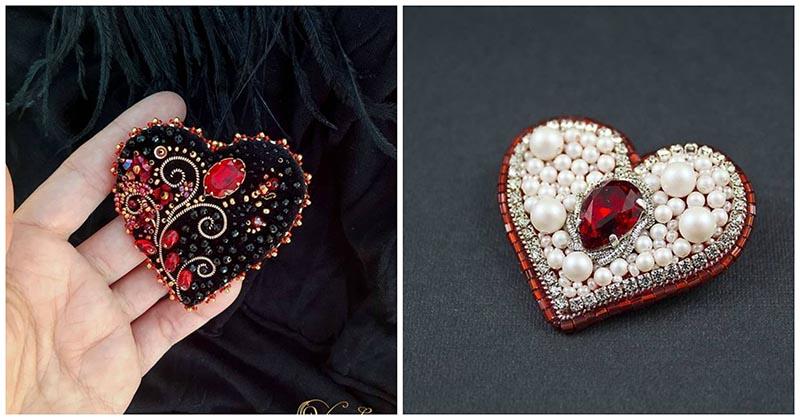 17 рукотворных брошей в виде сердца, которые покоряют с первого взгляда
