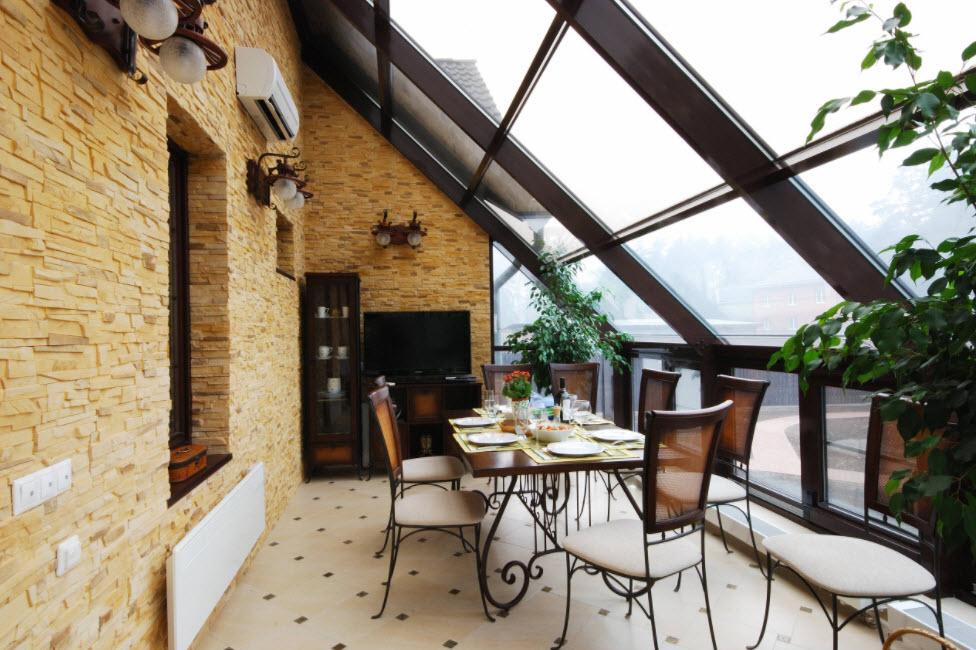 мансарда с панорамной крышей