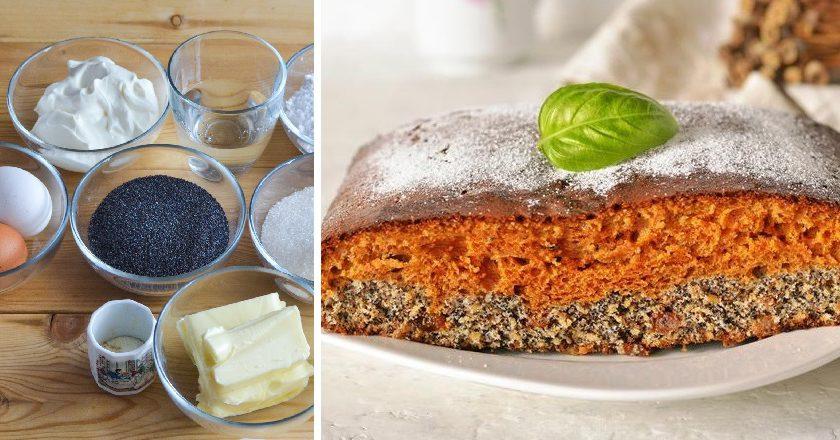 Карамельный пирог с маком: выпечка для зимних праздников