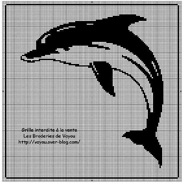 Схема рисунка дельфин