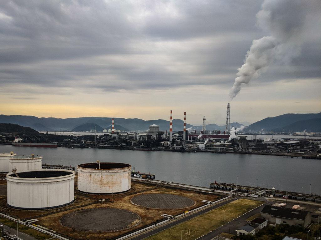 Дымящаяся Япония