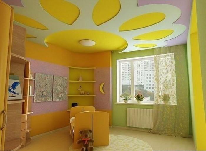 Фото 18 — Дизайн потолка в детской