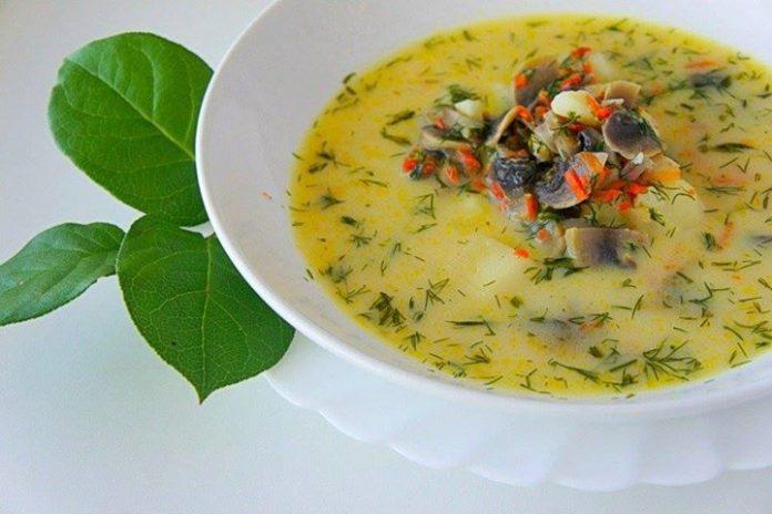 Грибной сливочный суп — невероятно вкусное и сытное блюдо