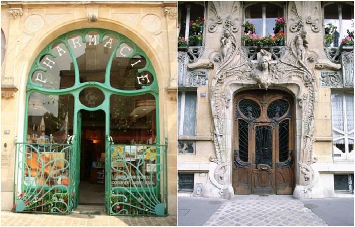 Лёгкое очарование европейской архитектуры : элегантные входные двери в стиле ар-нуво