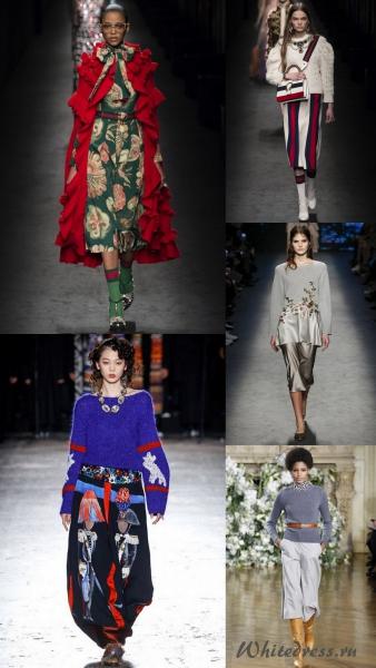 Модные вязаные и трикотажные тренды осени 2016