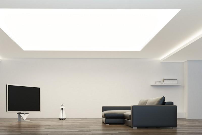 светящийся потолок как основное освещение фото