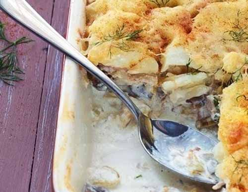 Картофельная запеканка с кур…