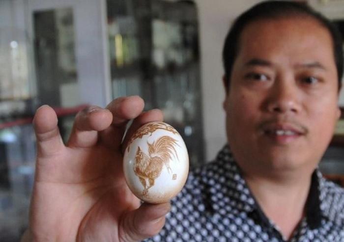 Резьба по яичной скорлуп в домашних условия 443