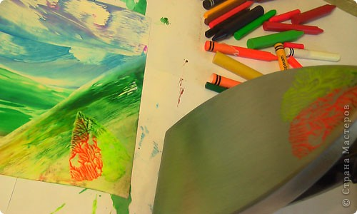 Картина, панно, рисунок, Мастер-класс Энкаустика: как я рисую утюгом Воск. Фото 13