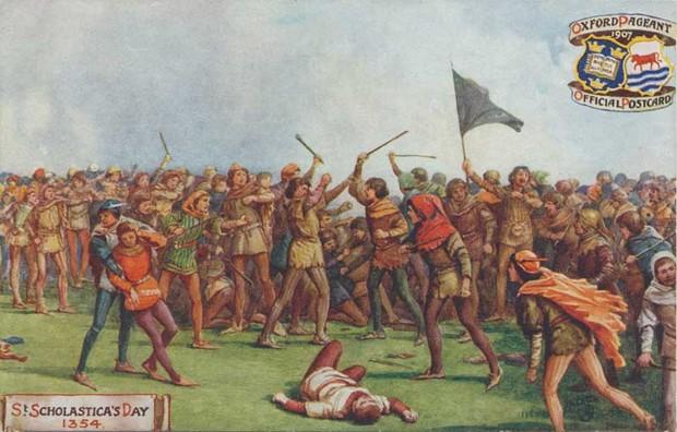 История самой большой драки в истории Англии:   2 дня боев, 93 погибших . англия,история