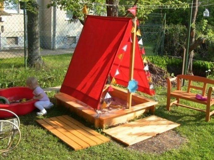 Небольшая детская площадка. дача, идеи для дачи, своими руками