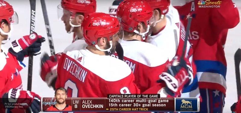 """Овечкин сделал хет-трик и установил новый рекорд НХЛ в матче с """"Нью-Джерси"""""""