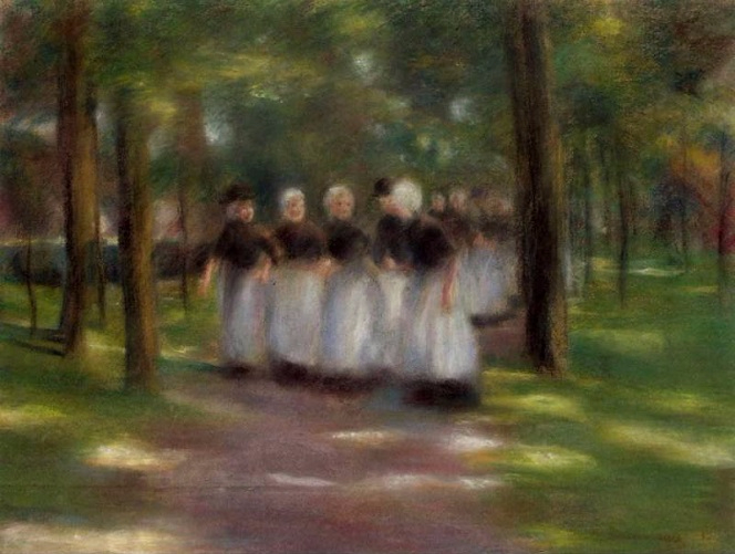 Sunday Afternoon in Laren-Alley with Girls, 1897. (664x501, 249Kb)