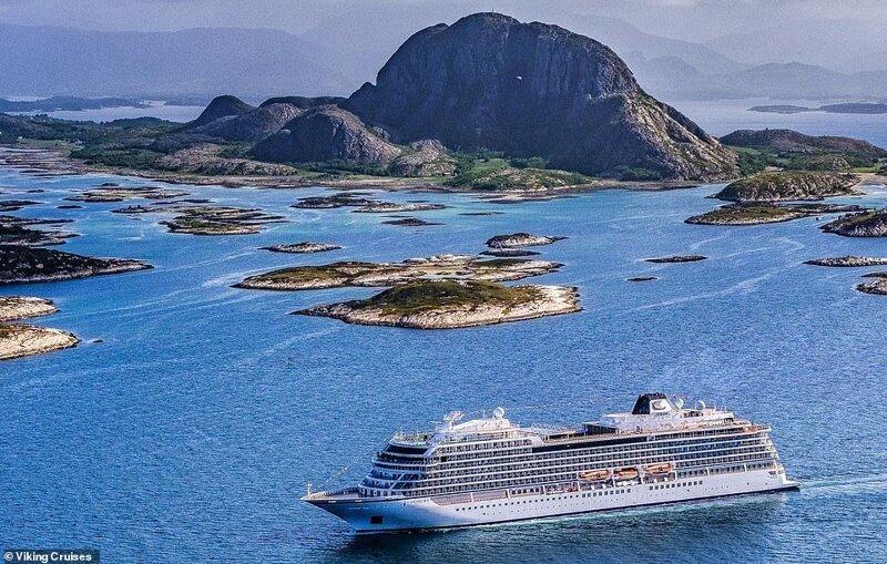 21. И вновь, судно Viking Sky у берегов Норвегии красиво, красивые места, круиз, круизы, мир, паром, путешествия, фото