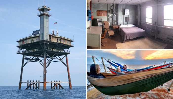 Превращение вертолетной платформы с башней-маяком ВМФ США в гостиницу для экстремалов