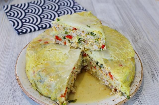 Необычный пирог из капусты 0