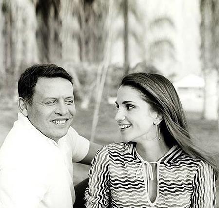 Королева Рания поздравила короля Абдаллу с 27-й годовщиной их брака Монархи,Новости монархов