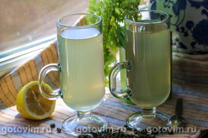 Лимонад из зеленого чая с мятой. Фотография рецепта