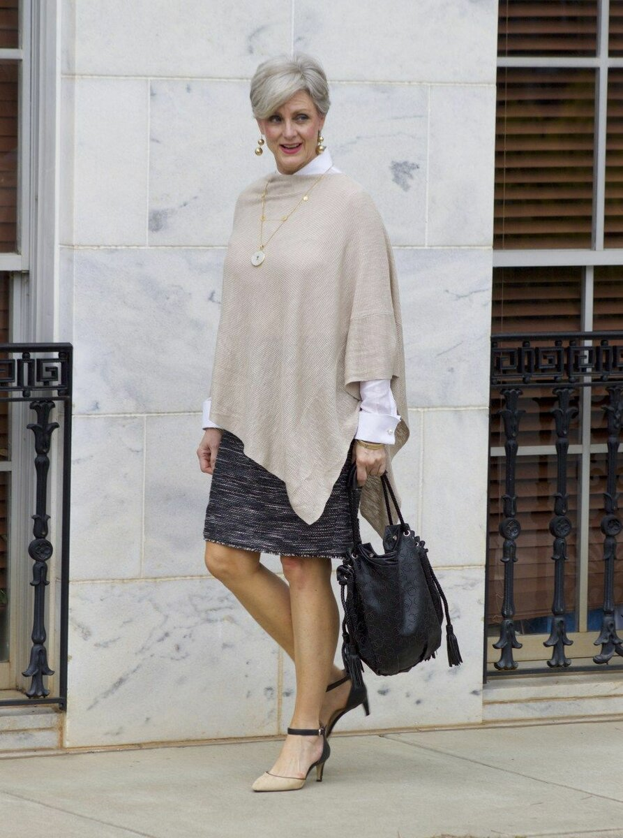 Стиль кэжуал для женщин элегантного возраста в повседневной жизни образ, кэжуал, цвета, белой, сумка, полоску, можно, образов, дополняют, белая, брюки, стиле, отличный, туфли, ансамбля, выбор, Дополняют, рукавами, клетку, жакета
