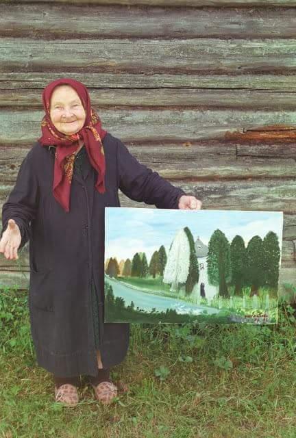 Баба Люба — художник, признанный во всем мире