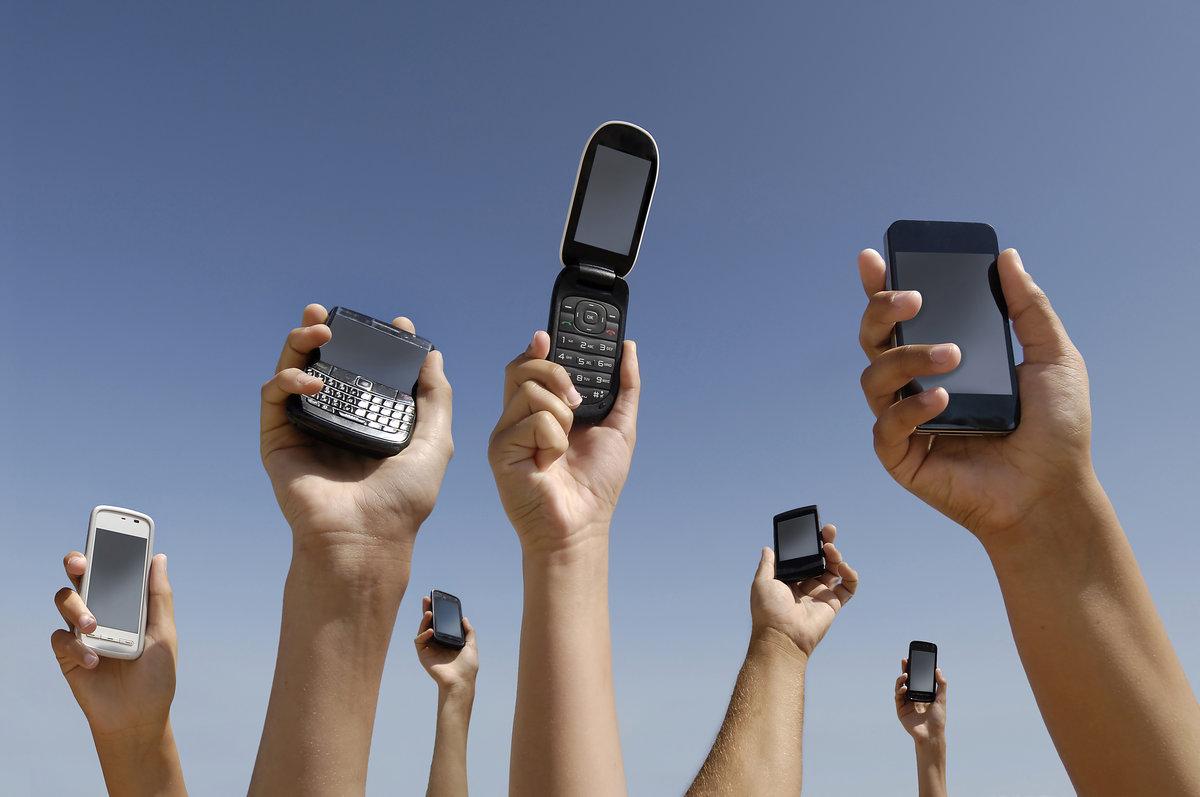 картинка с сотовыми телефонами соединенную