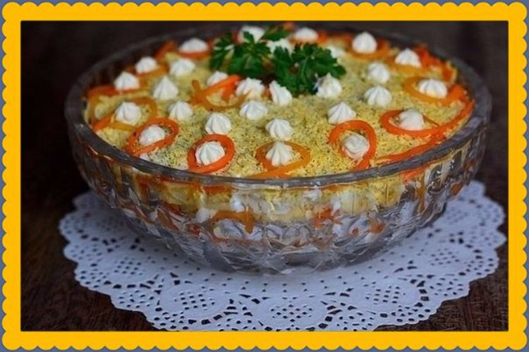 "Салат ""Царская трапеза"" для праздничного стола"
