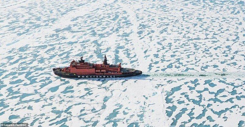 """4. Poseidon Expeditions организуют экспедиционные круизы в Антарктиду, Арктику, на Северный полюс. На фото - самый мощный в мире атомный ледокол """"50 лет Победы"""", на котором и проводится путешествие красиво, красивые места, круиз, круизы, мир, паром, путешествия, фото"""