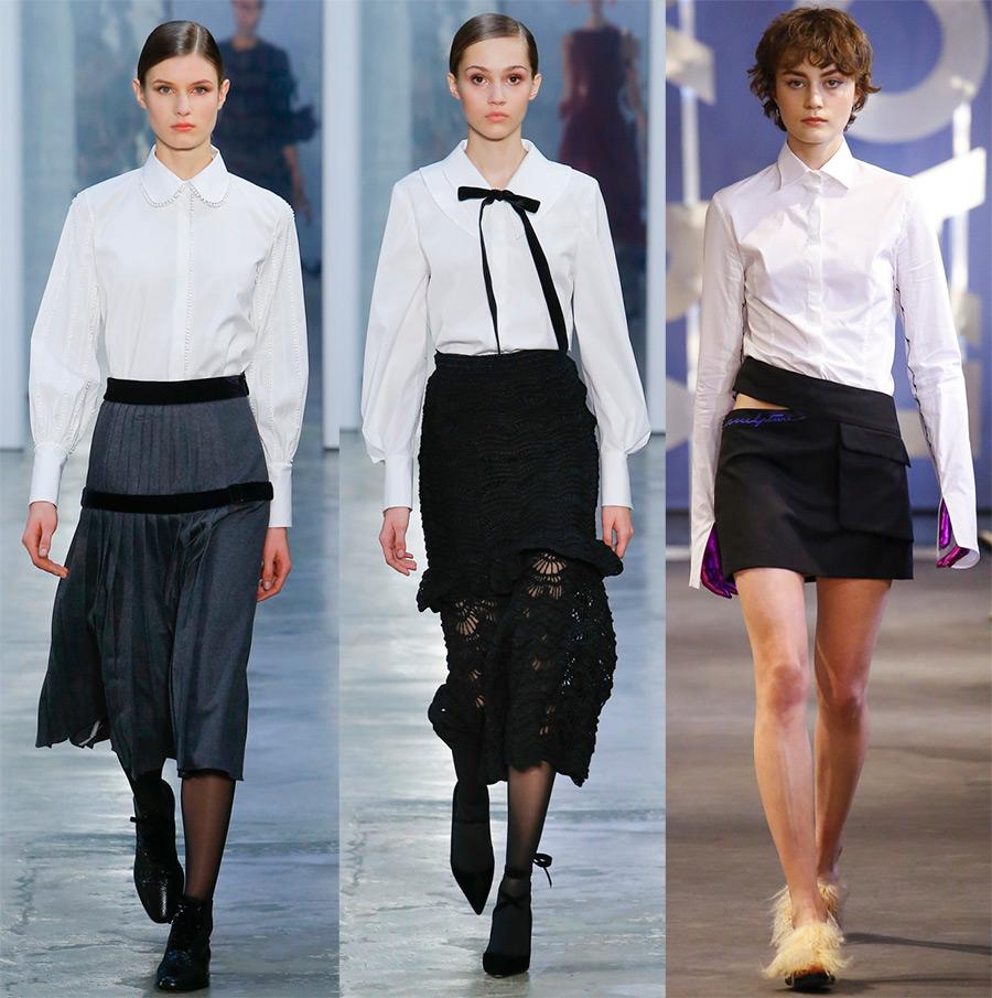 Подборка белых рубашек и блуз из свежих коллекций 2017-2018