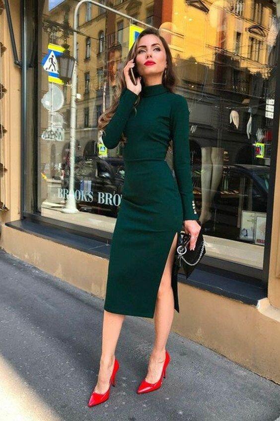 Изумрудные образы, которые хочется повторить мода и красота,модные образы,одежда и аксессуары