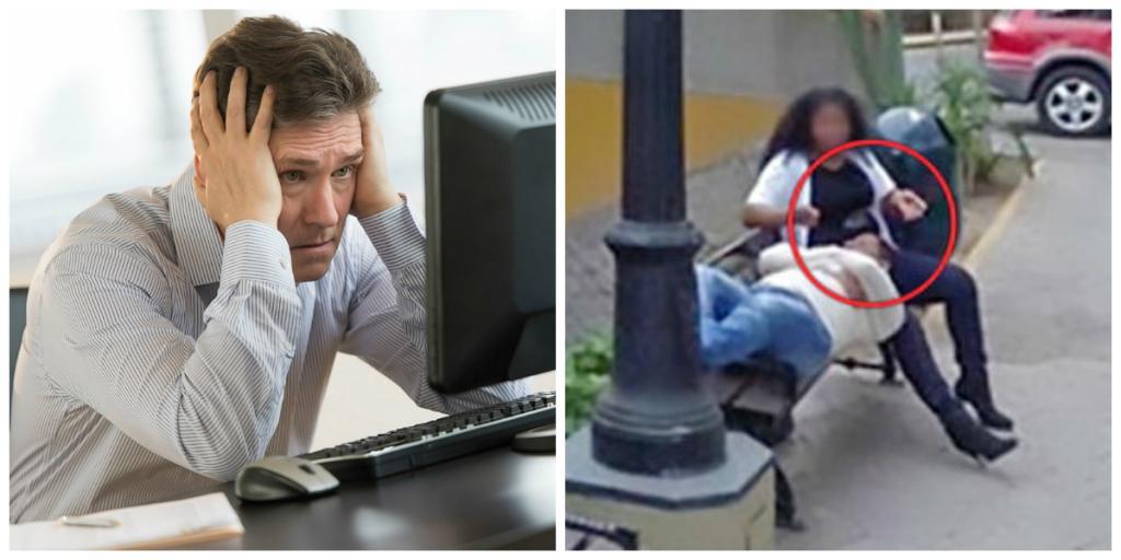 Просматривая улицы с помощью Google Maps, мужчина на одном из снимков заметил свою жену и сразу решил подать на развод