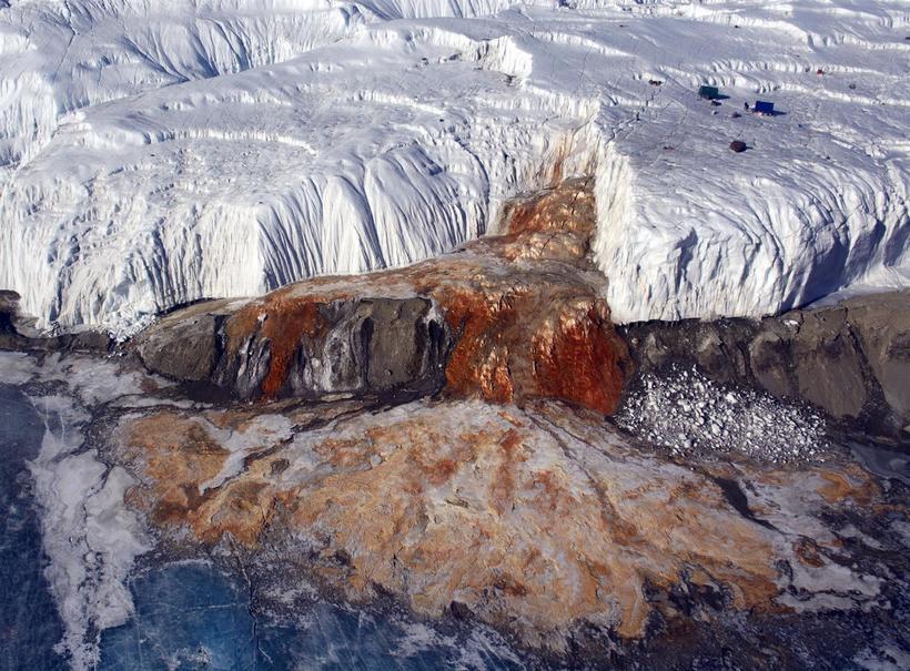 Кровавый водопад на леднике Тейлора: почему он имеет такой жуткий вид