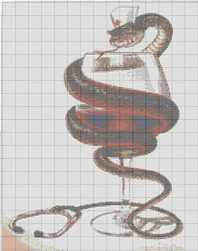 Схемы вышивки крестом медицинские