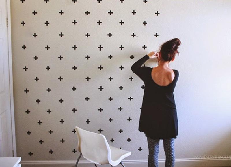декорирование стен гостинной фото
