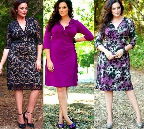 Модные платья для полных весна-лето 2012