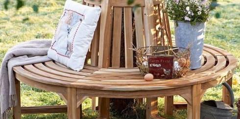 Как сделать оригинальную скамейку вокруг дерева